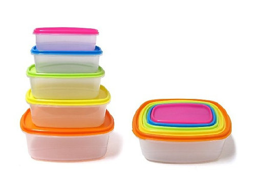 (10) PCS Always Fresh Plastic Containers