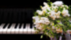 piano keys with flowers