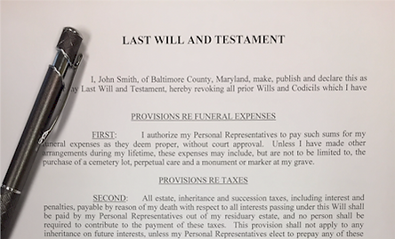 Probate law process: preparing a last will & testament