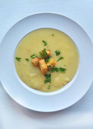 Supă cremă de cartofi  + crutoane