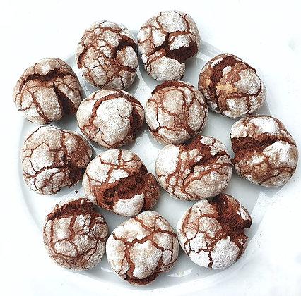 Fursecuri crăpate cu ciocolată (360g - 15 buc)