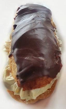 Mini ecleruri de vanilie cu glazură de ciocolată (500g - 12 buc)