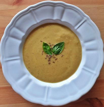 Supă cremă de linte + crutoane