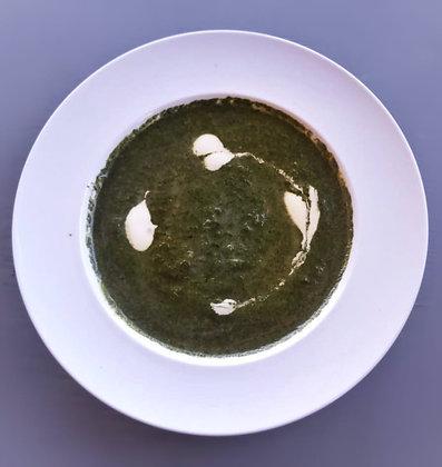 Supă cremă de spanac + crutoane