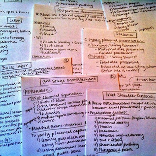 Student Midwife Study Cards