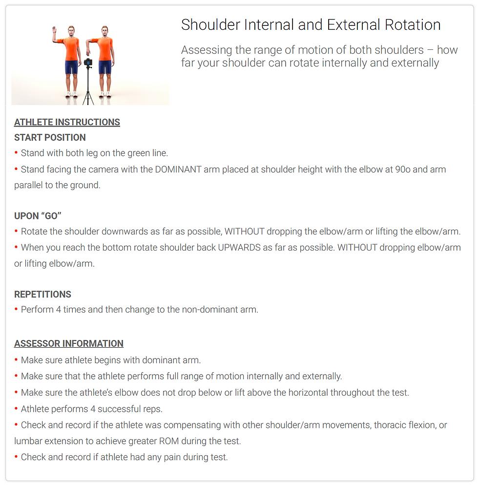 Shoulder Internal and External Rotation