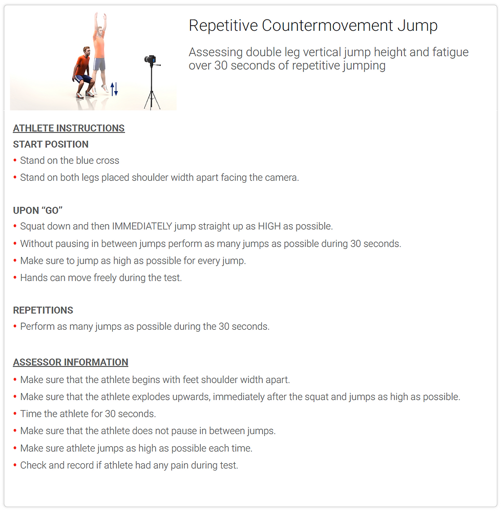 Repetitive Countermovement Jump - Instru