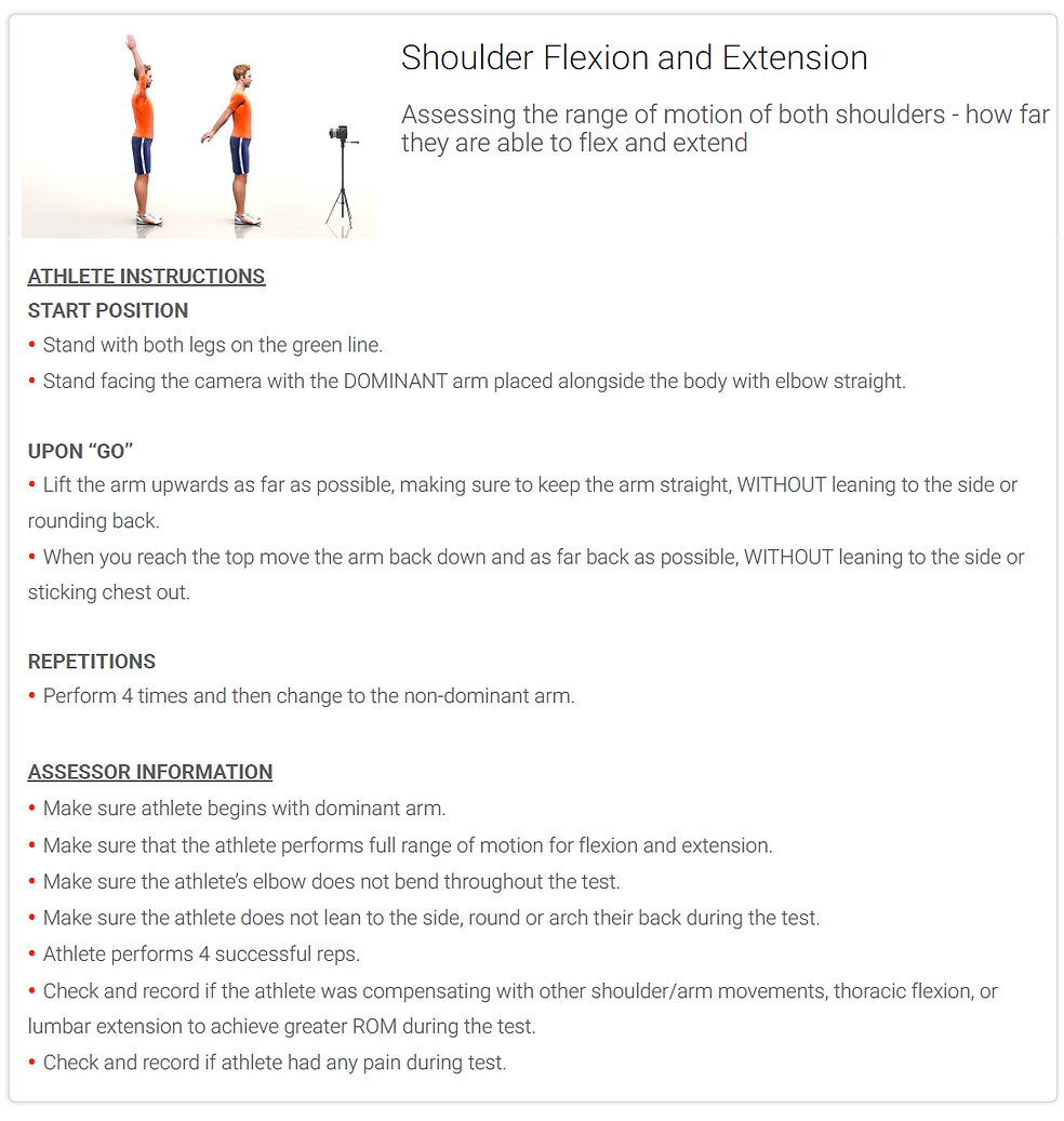 Shoulder Felxion and Extension - Instruc