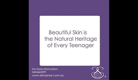 Have the Excellent Skin Bestowed Upon You By Nature.   Beautiful Skin is the Natural Heritage of Every Teenager. And Here is How to Achieve Excellent Skin Bestowed Upon You By Nature   To Simply Avoid Troublesome Skin ask Skin Sense Today  Skin skinsense.com.au or 0404 662 099