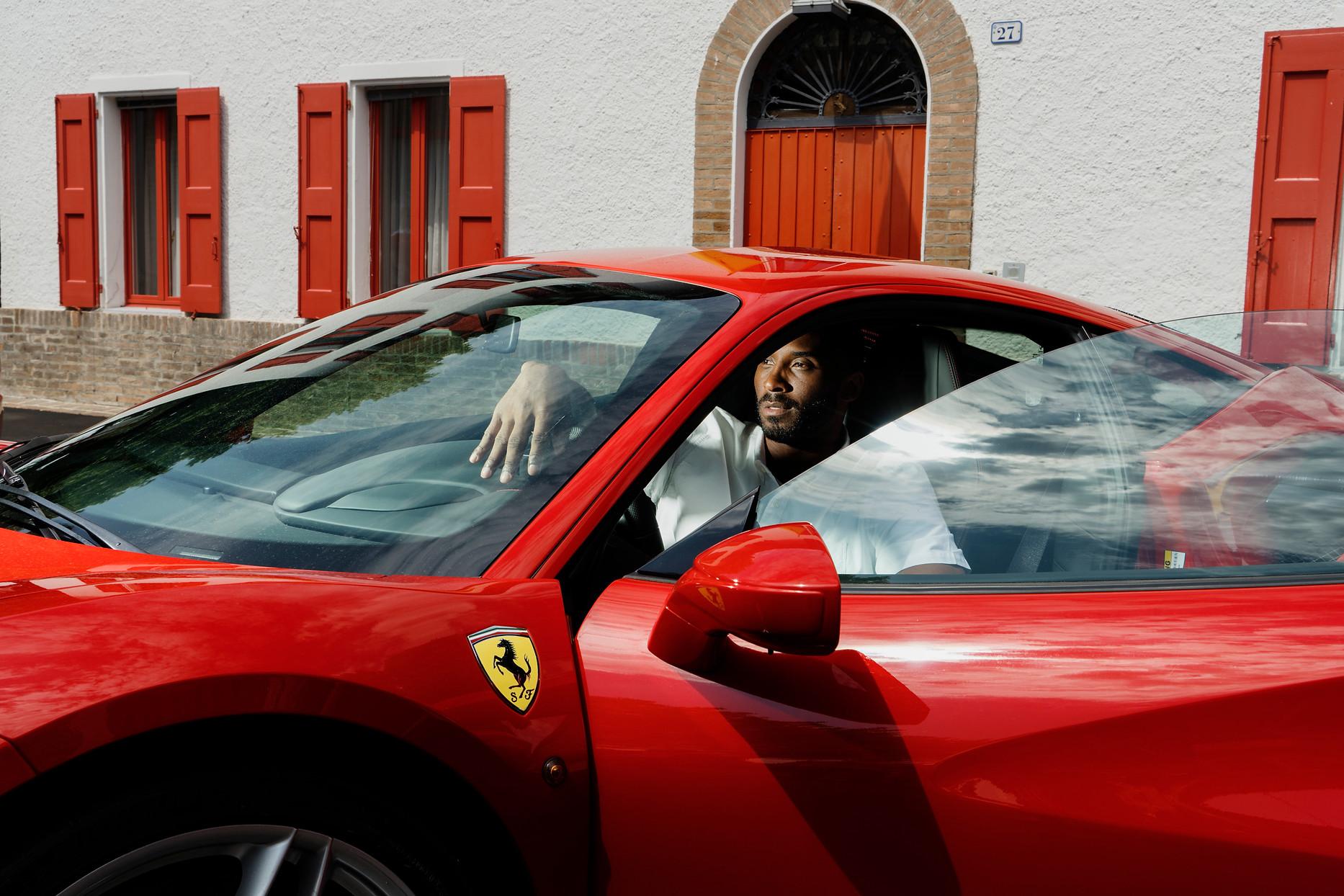 Kobe Bryant at Ferrari The great NBA champion visits Maranello
