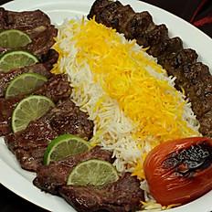 Filet & Beef Kabob (Soltani Kabob)