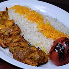 Chicken Kabob Plate (Joojeh)
