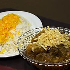 Gheimeh Bademjan (Beef & eggplant stew)