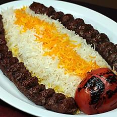 Beef Kabob Plate (Koobideh)