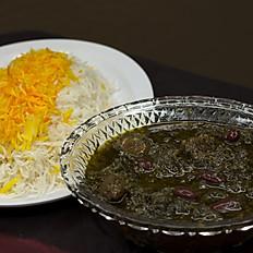 Ghormeh Sabzi (Beef & kidney bean stew)