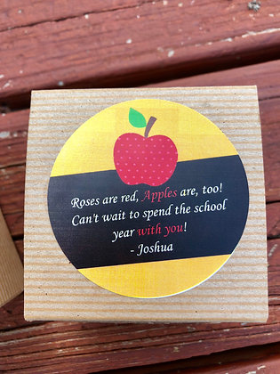 Personalized Teacher Apple Wax Melt