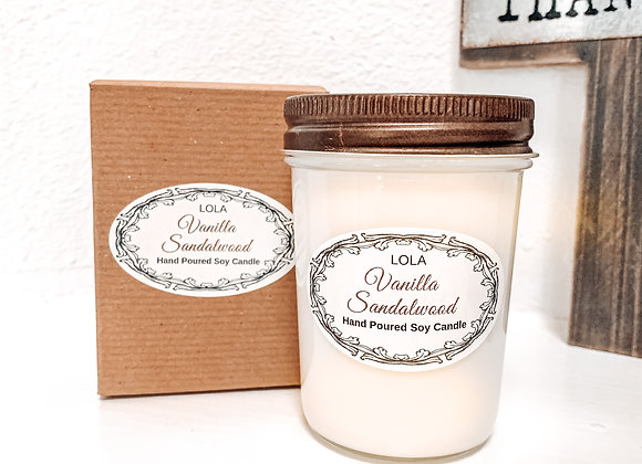 8 oz Jelly Jar Candle