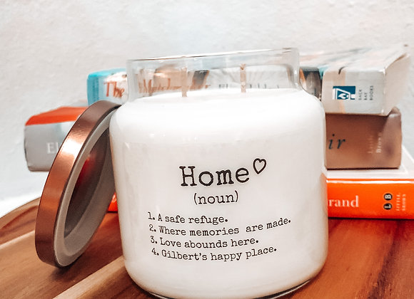 HOME Personalized Soy Blend Candle With Double Wick