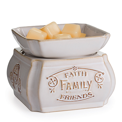 Faith, Family, Friends 2-in-1 Classic Fragrance Warmer By Candle Warmers