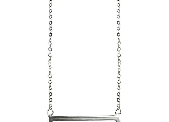 Sterling Silver Parallel Necklace