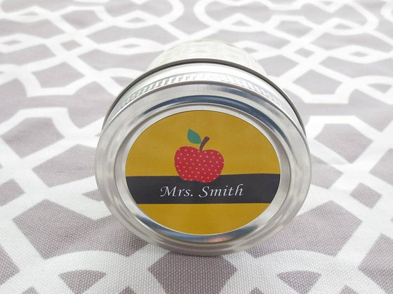 Teacher Apple Personalized Candle