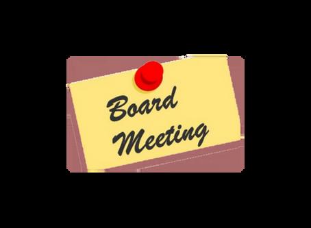 BOARD MEETING                                                 Wednesday, October 28, 2020