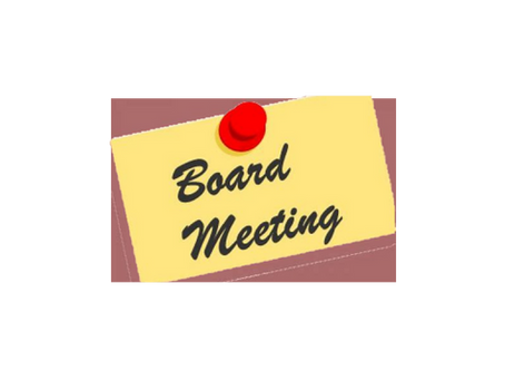 BOARD MEETING                                                 Wednesday, October 28, 2020