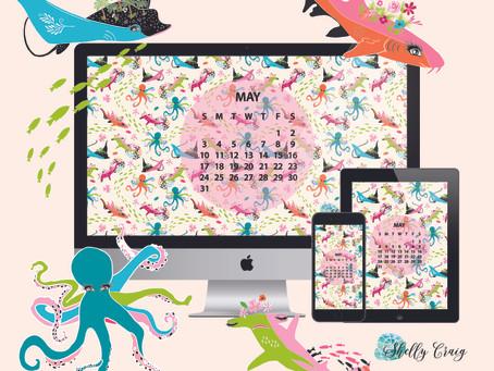 May Free Calendar download