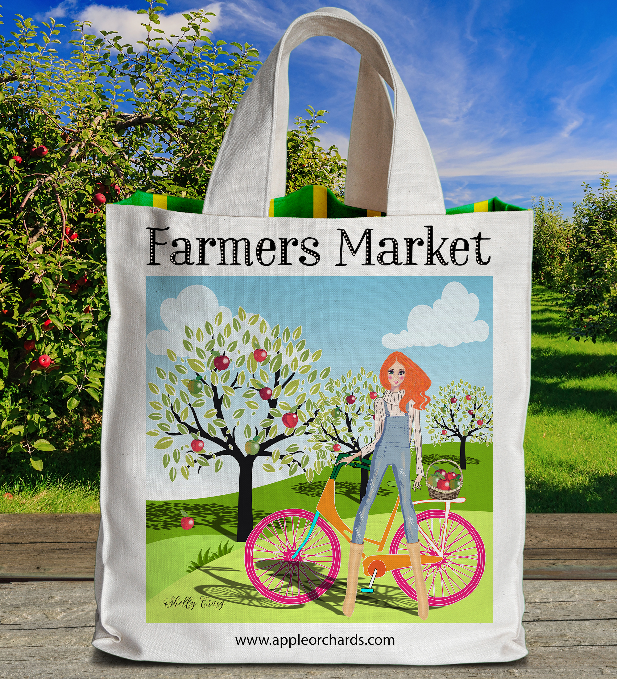 Apple Orchard Tote.