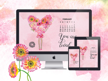 February Free Calendar download