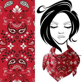 Rodeo Bandana print.  Spoonflower fabric.