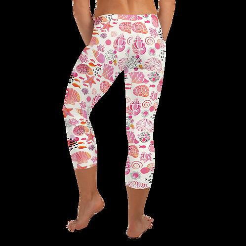 """""""Shell Shocked"""" Pink Capri Leggings"""