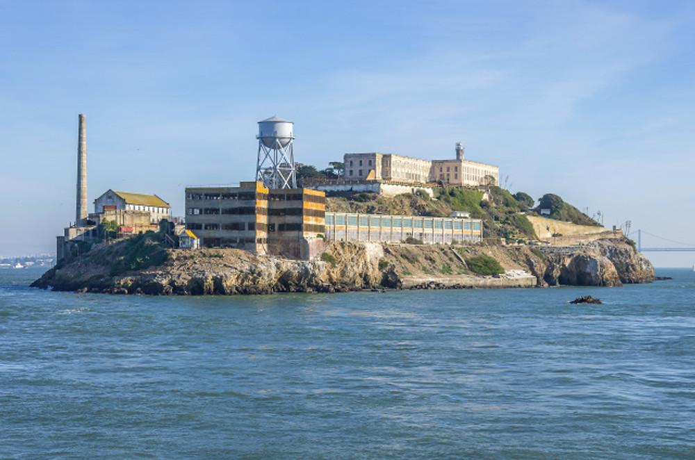 Alcatraz island on San Francisco Bay