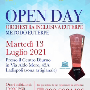 LADISPOLI, OPEN DAY DELL'ORCHESTRA INCLUSIVA EUTERPE