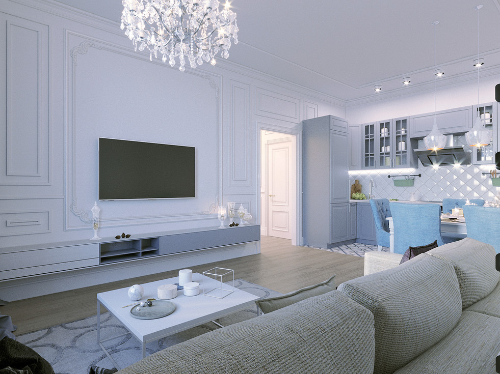 Design of a small apartment in the city of St. Petersburg