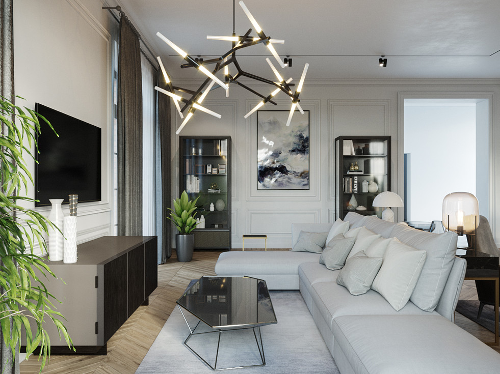 Small beautiful mansion in Paris, completed by our studio