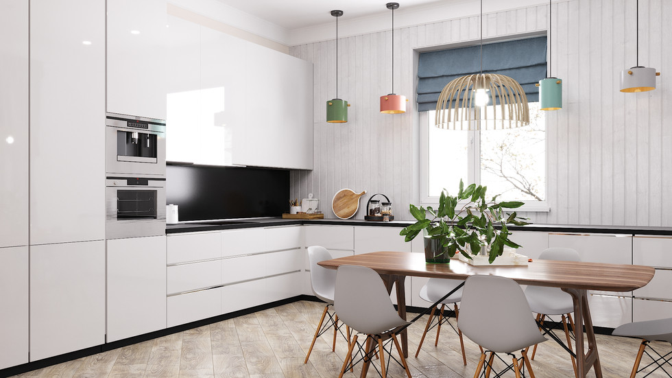 Scandinavian style house, project completed in Moscow