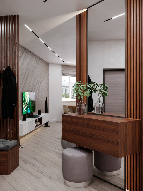 Loft style apartment. The project was completed in Moscow
