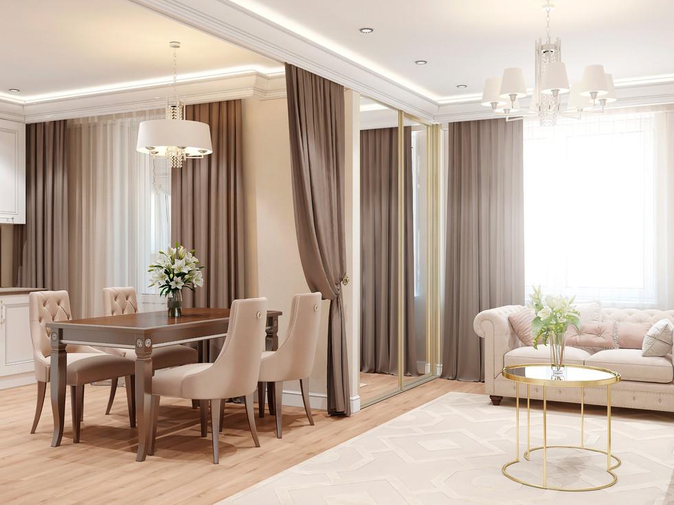 Elegant apartment in Paris in a classic style