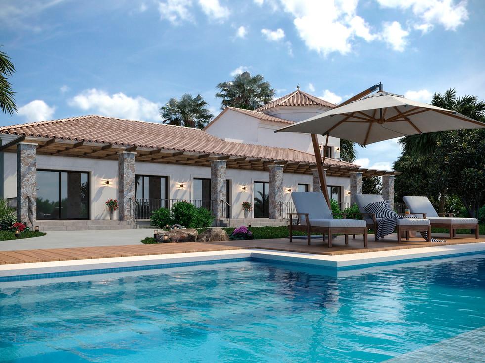 Mauritius villa landscape design