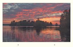Finland landscape sunset