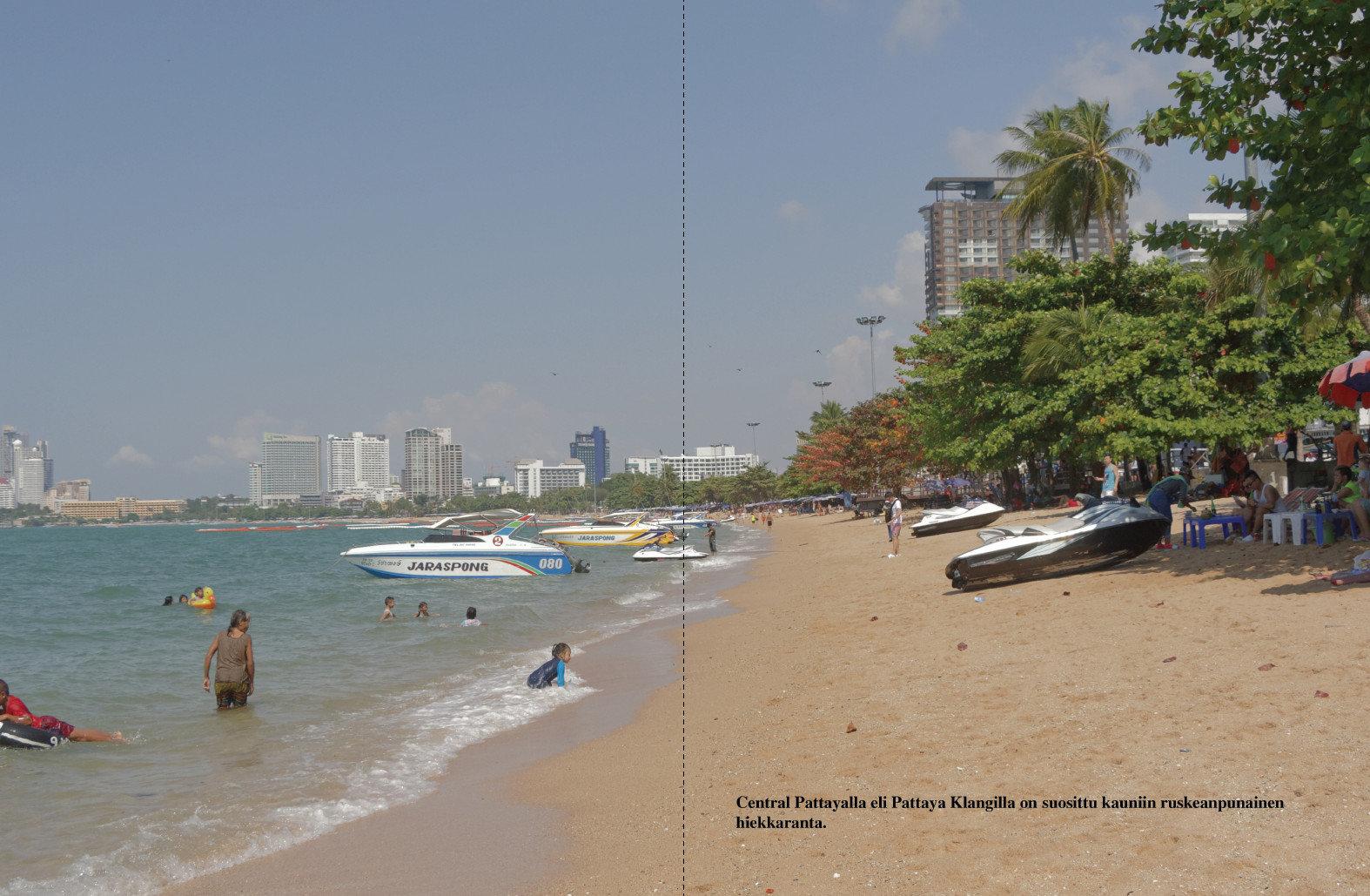 Pattayan hiekkarantaa