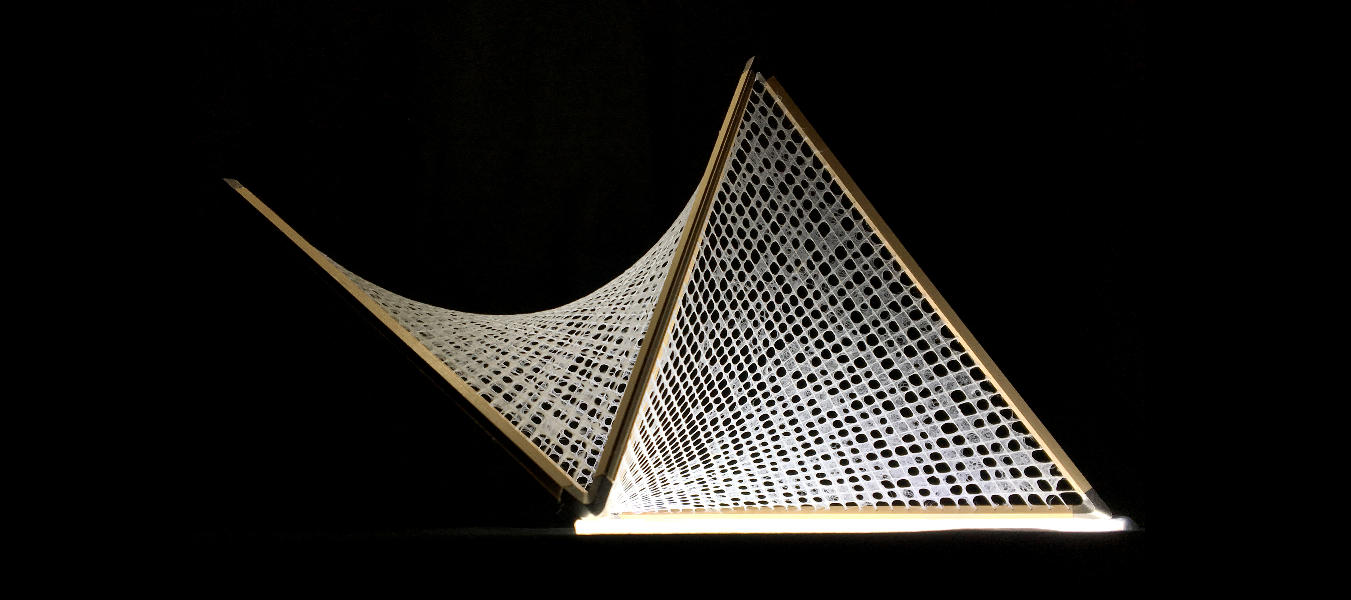 3D和紙照明「Hineri」