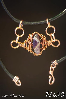 """Amethyst Choker with 15"""" Chain"""