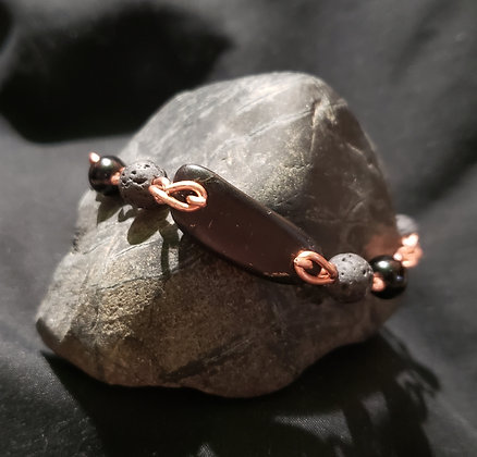 Men's Shungite & Copper Bracelet