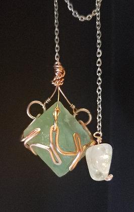 Fluorite Octathedron Pendulum