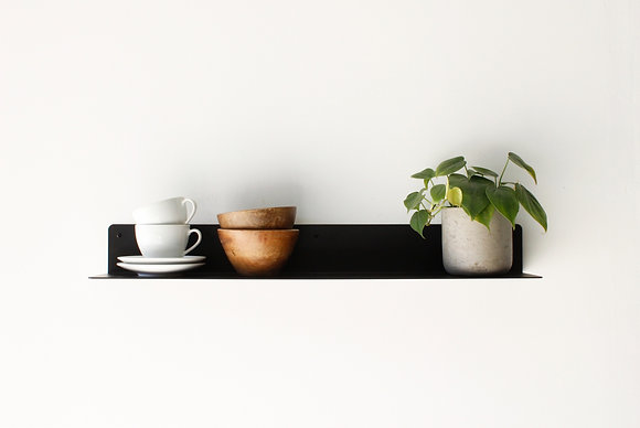 Open Shelf 75- צבע שחור