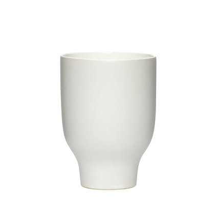 כוס פורצלן לבנה גדולה