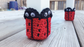 Crochet Ladybug Chair Socks