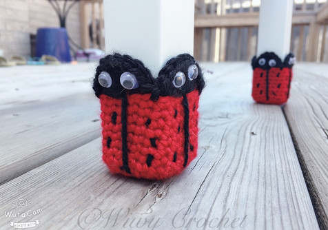Crochet Ladybug Chair Socks